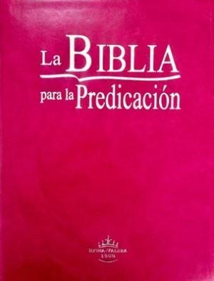 Biblia de la predicación. Letra grande. Imitación piel. Violeta. Índice - RVR60