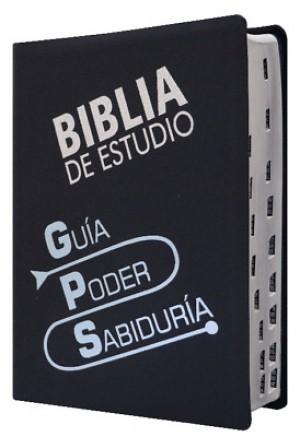 Biblia de estudio GPS. Piel especial. Negro. Índice - TLA