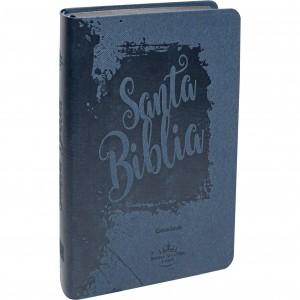 Biblia manual. Letra grande. 2 tonos. Azul. Índice - RVR60