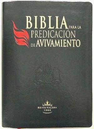 Biblia para la predicación de avivamiento. Piel especial. Negro. Índice - RVR60