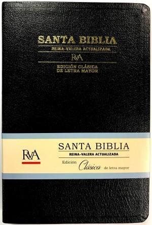 Biblia Clásica. Grande. Letra mayor. Piel especial. Negra - RVA