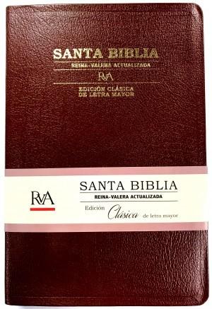 Biblia Clásica. Grande. Letra mayor. Piel especial. Marrón - RVA