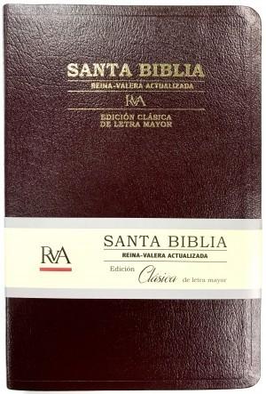 Biblia Clásica. Grande. Letra mayor. Piel especial. Rojo - RVA