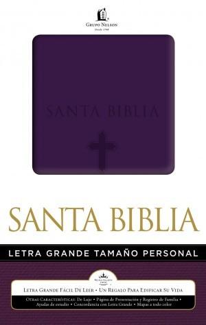 Biblia letra grande. Manual. 2 tonos. Morado - RVR60