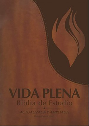 Biblia de estudio vida plena. 2 tonos. Marrón - RVR60