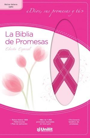 Biblia de promesas. Edición contra cáncer. 2 tonos. Rosa - RVR60