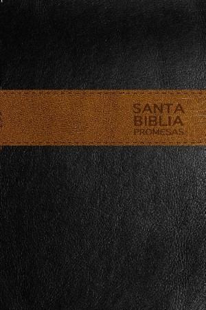 Biblia de promesas. 2 tonos. Negro/café - NTV