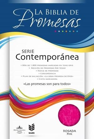 Biblia de promesas. Serie contemporánea. Rosado - RVR60