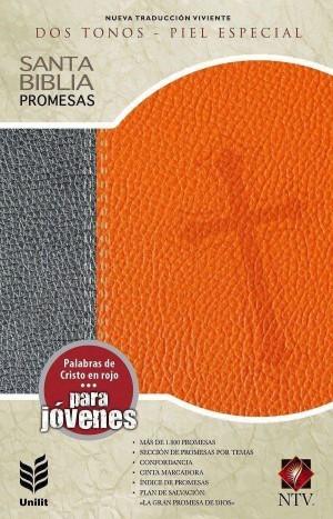 Biblia de promesas. Edición juvenil. 2 tonos. Naranja/gris - NTV