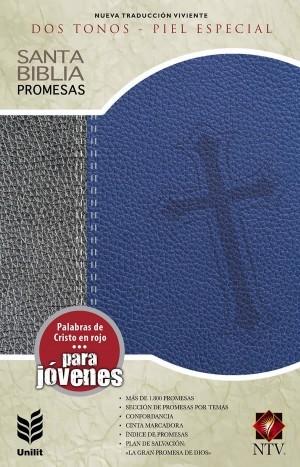 Biblia de promesas. Edición juvenil. 2 tonos. Azul/gris - NTV