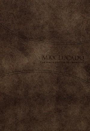 Biblia de promesas Max Lucado. Piel especial. Café - RVR60