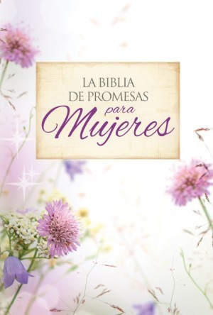 Biblia de promesas. Letra grande. 2 tonos. Floral. Cremallera - RVR60