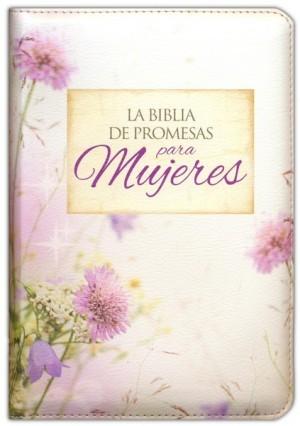 Biblia de promesas. Compacta. 2 tonos. Floral. Cremallera - RVR60