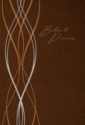 Biblia de promesas. Letra grande. 2 tonos. Marrón moderno - RVR60