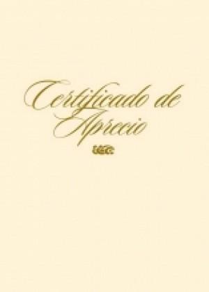 Certificado a todo color - Aprecio