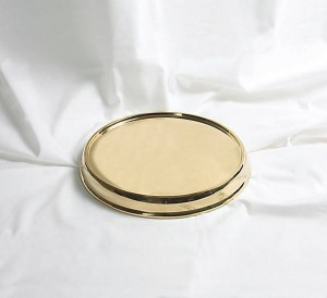 Base para bandeja de vasos dorada - Santa Cena