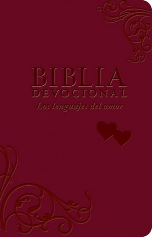 Biblia devocional los lenguajes del amor. 2 tonos. Rojo - NTV
