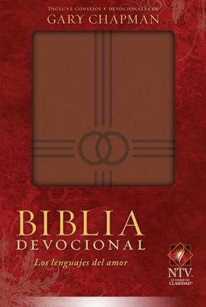Biblia devocional los lenguajes del amor. 2 tonos. Marrón - NTV
