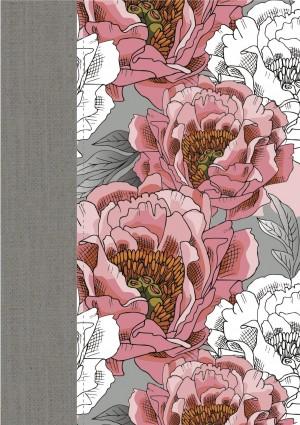Biblia de la mujer conforme al Corazón de Dios. 2 tonos. Gris/peonía - RVR60