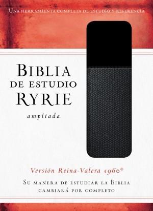 Biblia de estudio Ryrie ampliada. 2 tonos. Negro. Índice - RVR60