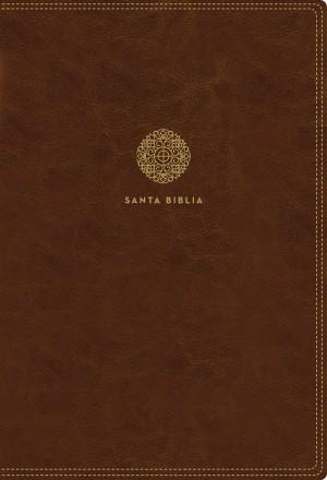 Biblia súper grande. Letra súper gigante. 2 tonos. Marrón. Cremallera - RVR60