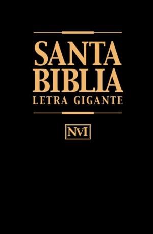 Biblia letra gigante. Imitación piel. Negro. Índice - NVI