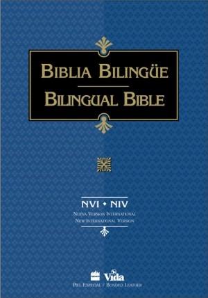 Biblia bilingüe. Imitación piel. Negro. Índice - NVI/NIV