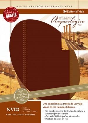 Biblia arqueológica. Piel especial. Rojo/marrón - NVI