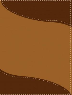 Biblia bilingüe. Tamaño manual. 2 tonos. Marrón - RVR60/NIV