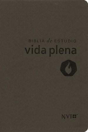 Biblia de estudio vida plena. 2 tonos. Gris - NVI