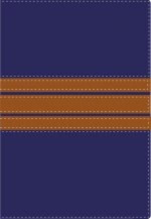 Biblia bilingüe. 2 tonos. Azul/café - NVI/NIV