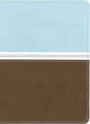 Biblia ultrafina. Compacta. 2 tonos. Agua/marrón - NVI