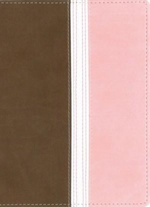 Biblia ultrafina. Compacta. 2 tonos. Marrón/rosa - NVI