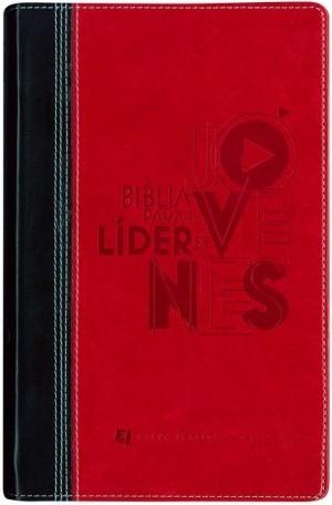 Biblia para líderes de jóvenes. 2 tonos. Rojo/negro - NVI