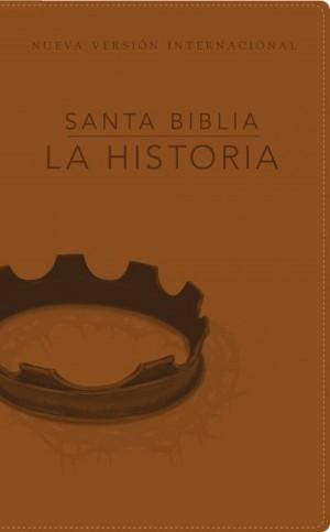 Biblia la Historia. 2 tonos. Marrón - NVI