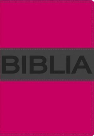 Biblia ultrafina. Compacta. Contempo. 2 tonos. Rosa/gris - NVI