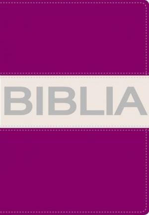 Biblia ultrafina. Compacta. Contempo. 2 tonos. Morado/gris - NVI