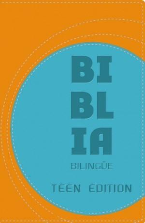 Biblia bilingüe. Teen edition. 2 tonos. Naranja/azul - NVI/NIV