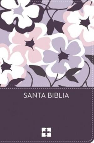 Biblia compacta. Ultrafina. 2 tonos. Flores - NVI