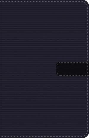 Biblia compacta. Ultrafina. 2 tonos. Negro. Cremallera - LBLA