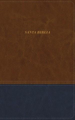 Biblia manual. Ultrafina. 2 tonos. Marrón/azul - LBLA