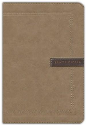 Biblia grande. Letra gigante. Ultrafina. 2 tonos. Beige - NBLA