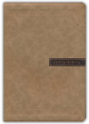 Biblia súper grande. Letra súper gigante. 2 tonos. Beige - NBLA