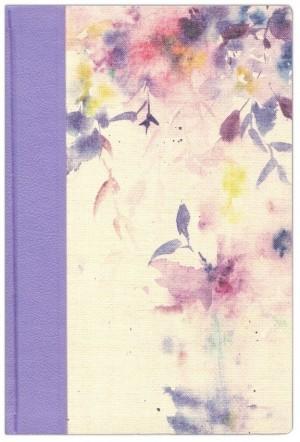 Biblia de estudio para la mujer. Tapa dura entelada. Lila/floral - NVI