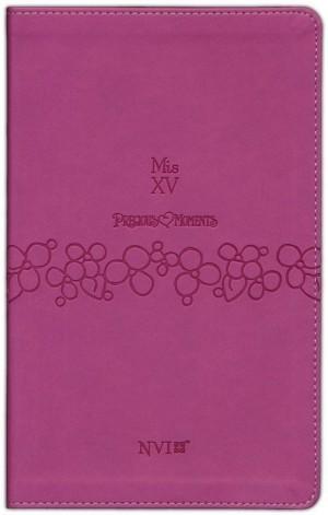 Biblia Precious moments. Mis quince. 2 tonos. Rosa - NVI