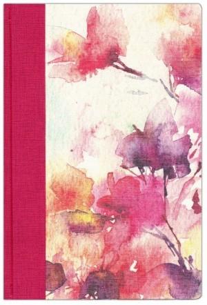 Biblia de estudio para la mujer. Tapa dura entelada. Fucsia/floral - NVI