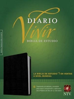 Biblia de estudio del diario vivir. Piel especial. Negro. Índice - NTV