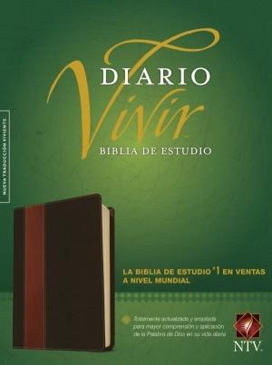 Biblia de estudio del diario vivir. 2 tonos. Marrón - NTV