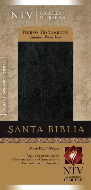 Nuevo Testamento. Bolsillo. Ultrafino. Salmos y Proverbios. Imitación piel. Negro - NTV