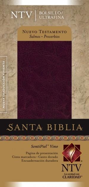 Nuevo Testamento. Bolsillo. Ultrafino. Salmos y Proverbios. Imitación piel. Rojizo - NTV